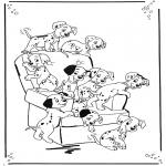 Personnages de bande dessinée - 101 dalmatiens 1