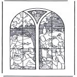 Coloriages Bible - 5 filles sages et 5 folles