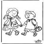 Coloriages pour enfants - A l'école 3