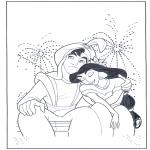 Personnages de bande dessinée - Aladin chez le feu d'artifice