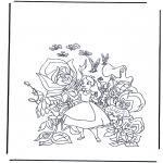 Personnages de bande dessinée - Alice au pays des merveilles  1