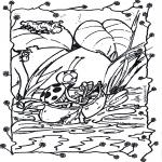 Coloriages d'animaux - Aller en bateau 1
