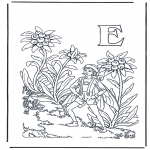 Coloriages faits divers - Alphabet E
