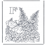 Coloriages faits divers - Alphabet F