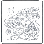 Coloriages faits divers - Alphabet N