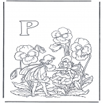 Coloriages faits divers - Alphabet P