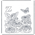 Coloriages faits divers - Alphabet Z