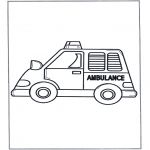 Coloriages faits divers - Ambulance