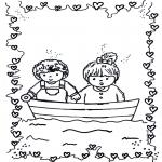 Coloriages pour enfants - Amoureux 1
