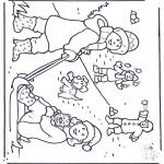 Coloriages hiver - Amusement dans la neige