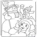 Coloriages hiver - Amusement d'hiver