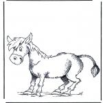 Coloriages d'animaux - âne