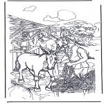 Coloriages Bible - âne pour Ramaux
