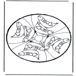 Bricolage cartes de piquer - Animaux-carte de piquer