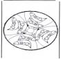 Animaux-carte de piquer