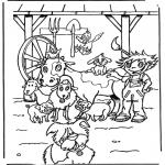 Coloriages d'animaux - Animaux de ferme