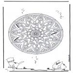 Mandala - Animaux geomandala 2