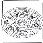 Mandala - Animaux Mandala 2