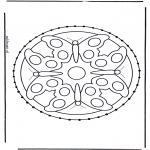 Bricolage cartes de broder - Animaux Mandala
