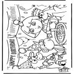 Coloriages pour enfants - Anniversaire de Dora