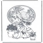 Coloriages faits divers - Arrose les plantes