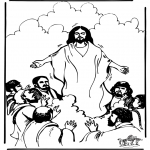 Coloriages Bible - Ascension 1