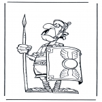 Personnages de bande dessinée - Astérix le soldat romain