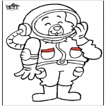 Coloriages faits divers - Astronaute chat