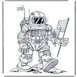 Coloriages faits divers - Astronaute