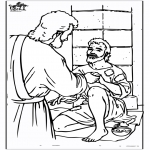 Coloriages Bible - Aveugle