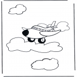 Coloriages faits divers - Avion 1
