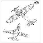 Coloriages faits divers - Avion 3