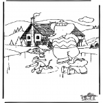 Coloriages hiver - Babar dhiver