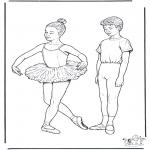 Coloriages faits divers - Ballet 1