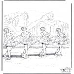 Coloriages faits divers - Ballet 2
