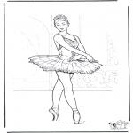 Coloriages faits divers - Ballet 3