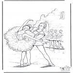 Coloriages faits divers - Ballet 4