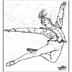 Coloriages faits divers - Ballet 8