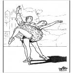 Coloriages faits divers - Ballet 9