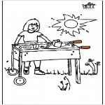 Coloriages faits divers - Barbecue