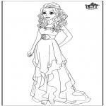 Personnages de bande dessinée - Barbie - Robe de mariée