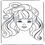 Personnages de bande dessinée - Barbie tête