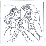 Coloriage thème - Barie avec le prince
