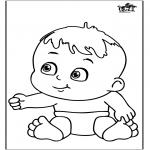 Coloriage thème - Bébé 12