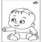 Coloriage thème - Bébé 13