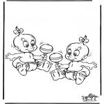 Coloriage thème - Bébé 5