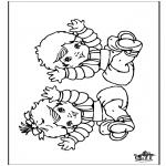 Coloriage thème - Bébé 9