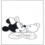 Coloriages pour enfants - Bébé Minni