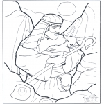 Coloriages Bible - Berger et le mouton