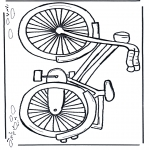 Coloriages faits divers - Bicylclette 1